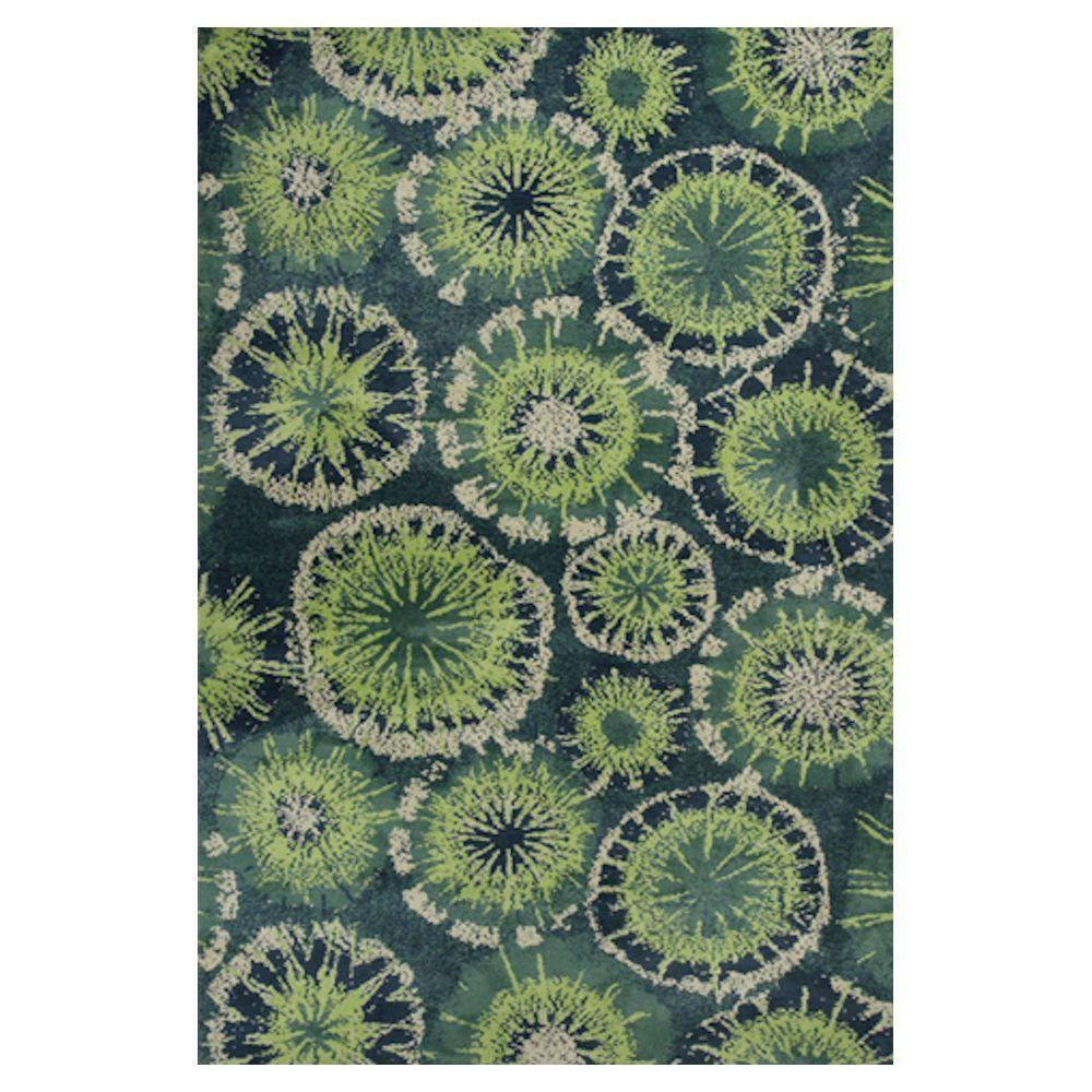 Kas Rugs Burst of Light Green 3 ft. 3 in. x 5 ft. 3 in. Area Rug