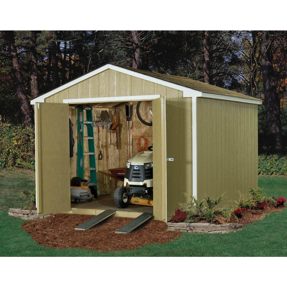 Handy Home Products Princeton 10 ft x 10 ft Wood Storage Shed