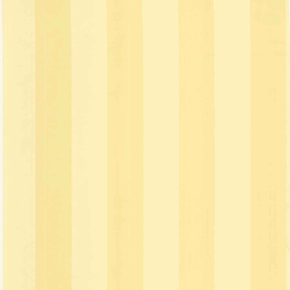 The Wallpaper Company 8 in. x 10 in. Yellow Pastel Two Tone Stripe Wallpaper Sample