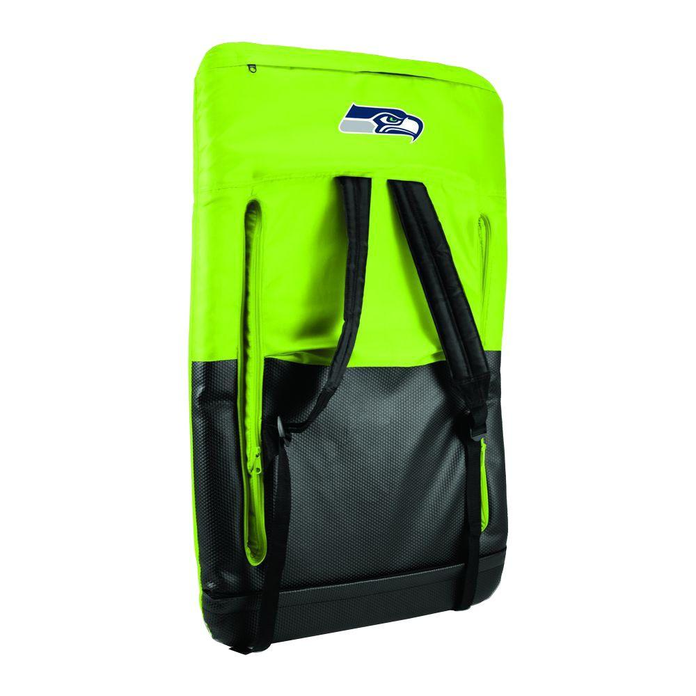 Picnic Time Ventura Seattle Seahawks Lime Patio Sports Chair with Digital
