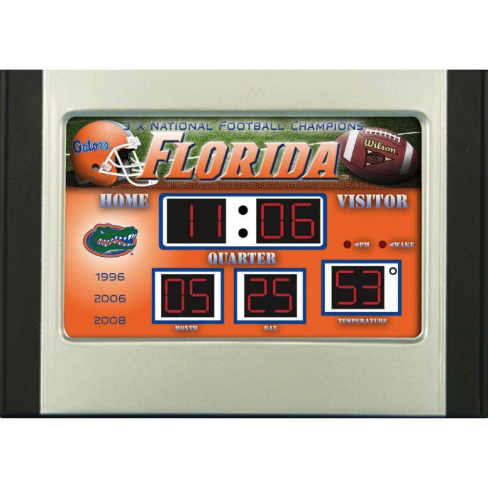 null University of Florida 6.5 in. x 9 in. Scoreboard Alarm Clock with Temperature