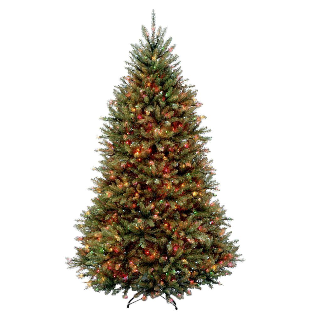 6.5 ft. Dunhill Fir Artificial Christmas Tree with Multicolor Lights