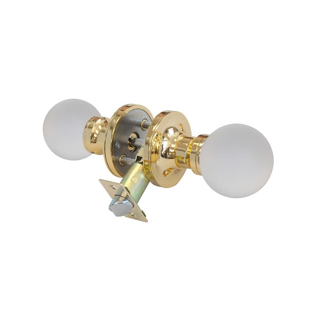 Moon Crystal Brass Privacy Door Knob with LED Mixing Lighting Touch