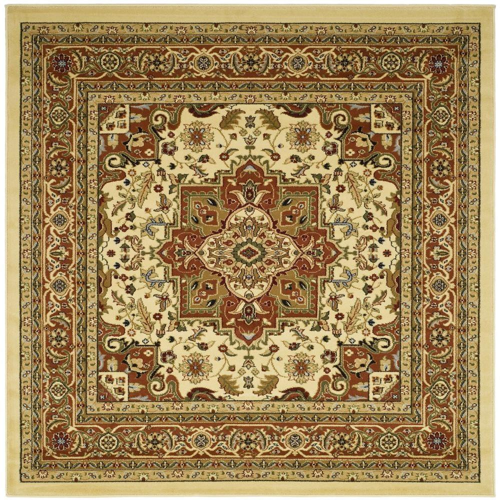 Safavieh Lyndhurst Ivory/Rust 6 ft. x 6 ft. Square Area Rug