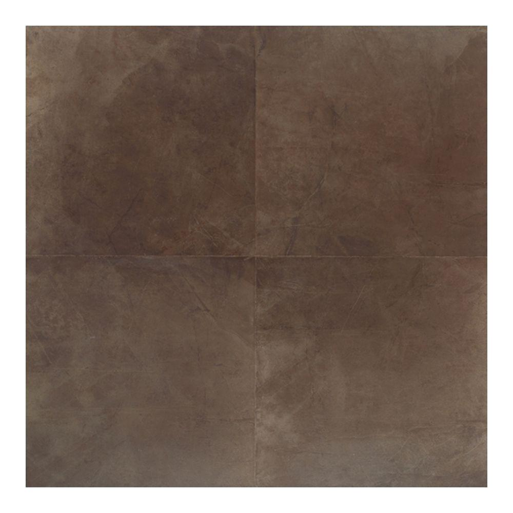 Daltile Concrete Connection Eastside Brown 20 in. x 20 in. Porcelain Floor and Wall Tile (16.27 q. ft. / case)