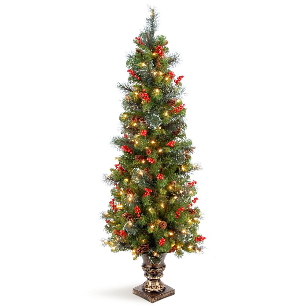 National Tree Company 5 ft. Crestwood Spruce Entrance Artificial Christmas Tree