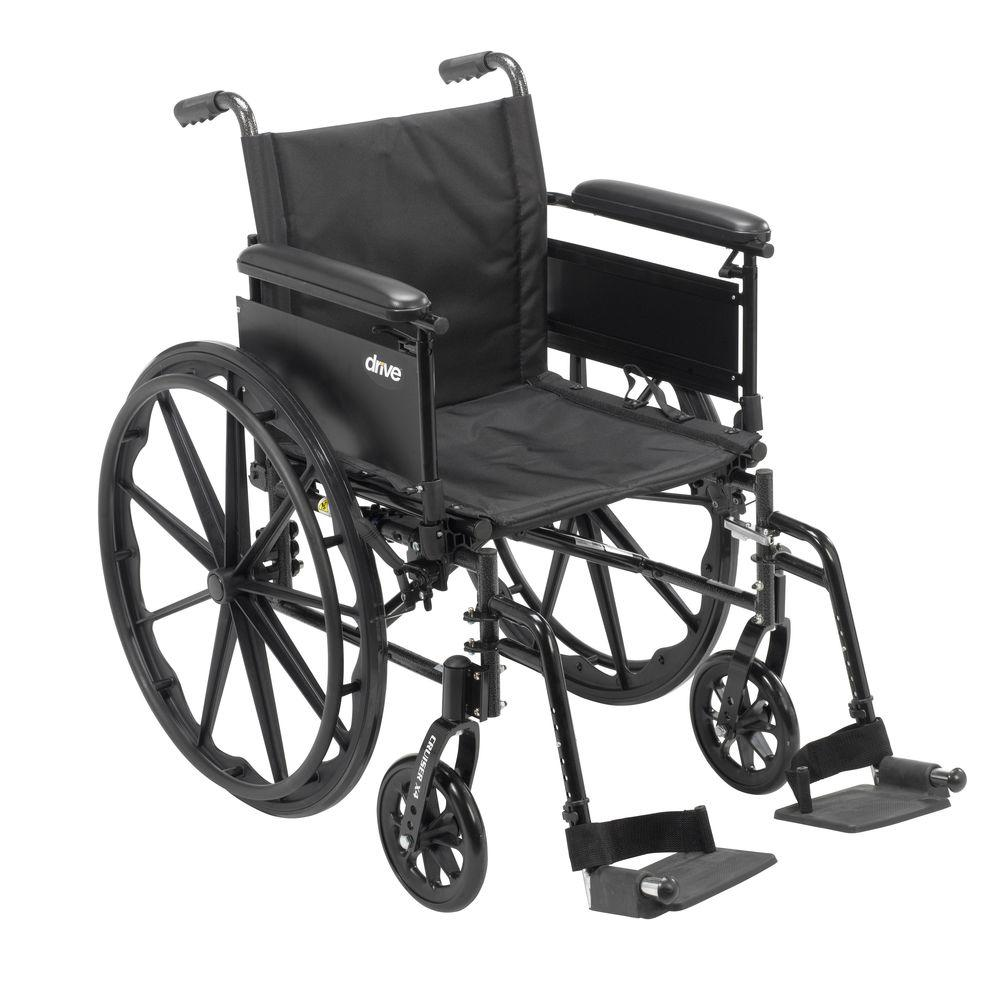 Drive Cruiser X4 Lightweight Dual Axle Wheelchair with Adjustable Detachable