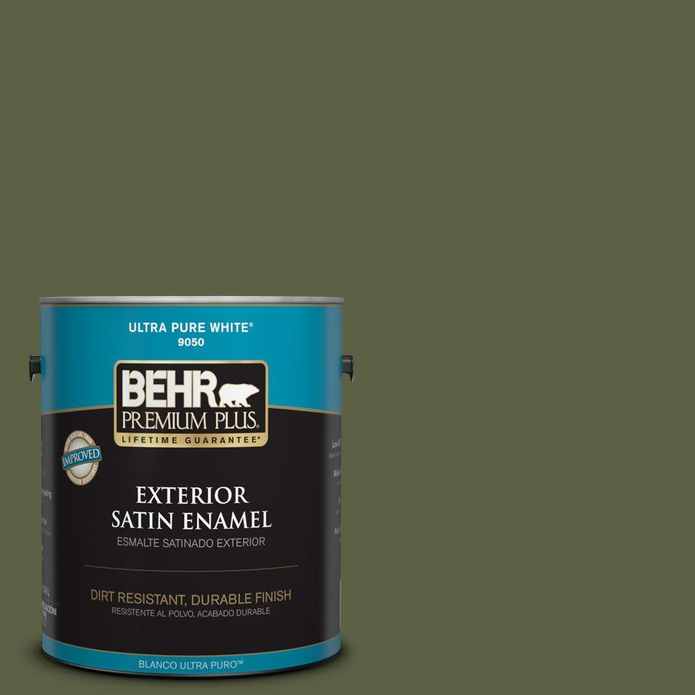 BEHR Premium Plus 1-gal. #S360-7 Down to Earth Satin Enamel Exterior Paint