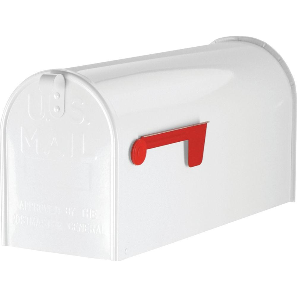 Gibraltar Mailboxes Albany Aluminum Large T2 Post-Mount Mailbox in White