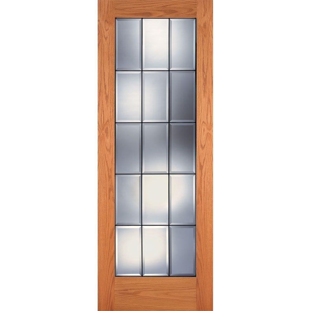 Feather River Doors 30 in. x 80 in. 15 Lite Clear
