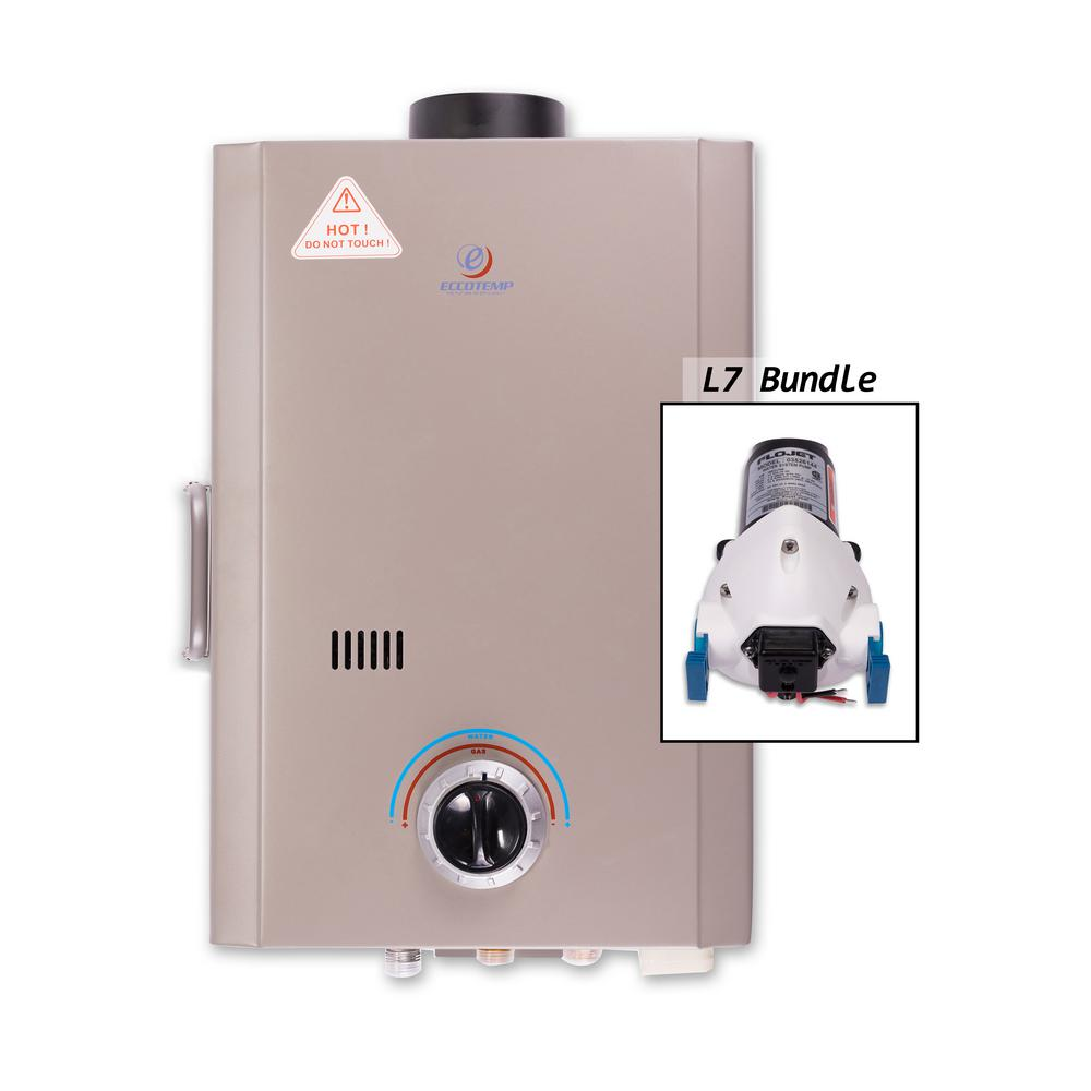 L7 1.5 GPM Liquid Propane Tankless Water Heater with Flojet Pump