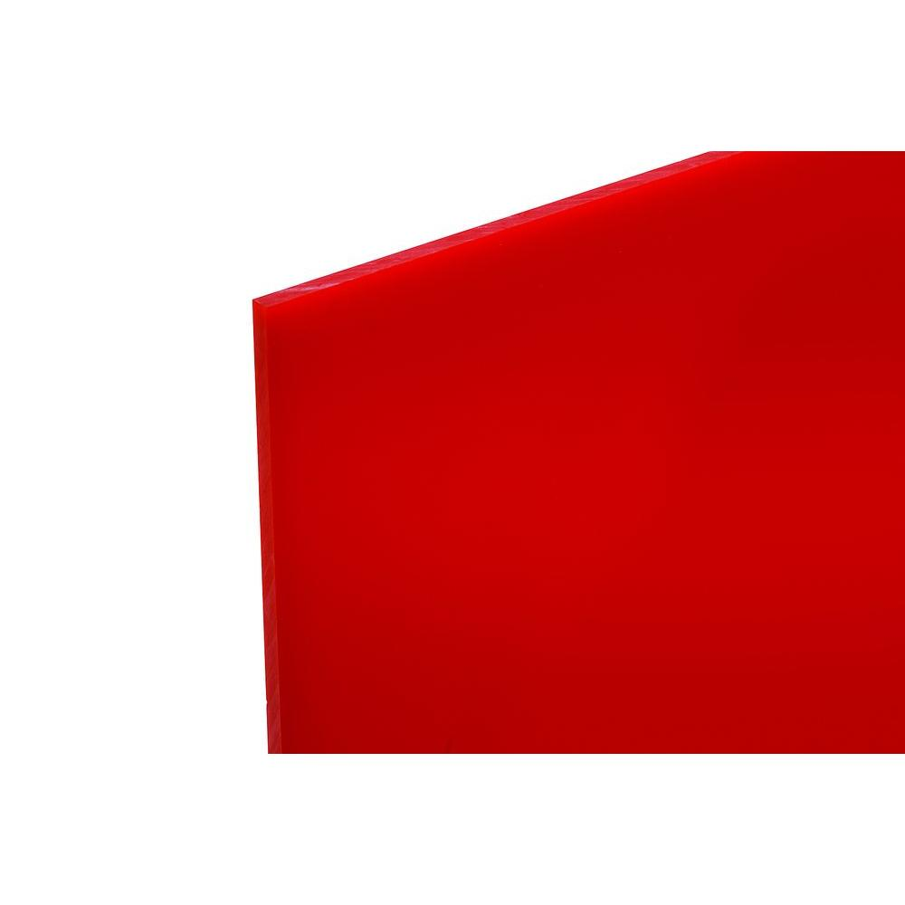 48 in. x 96 in. x .118 in. Red Acrylic Sheet-CA2793RED
