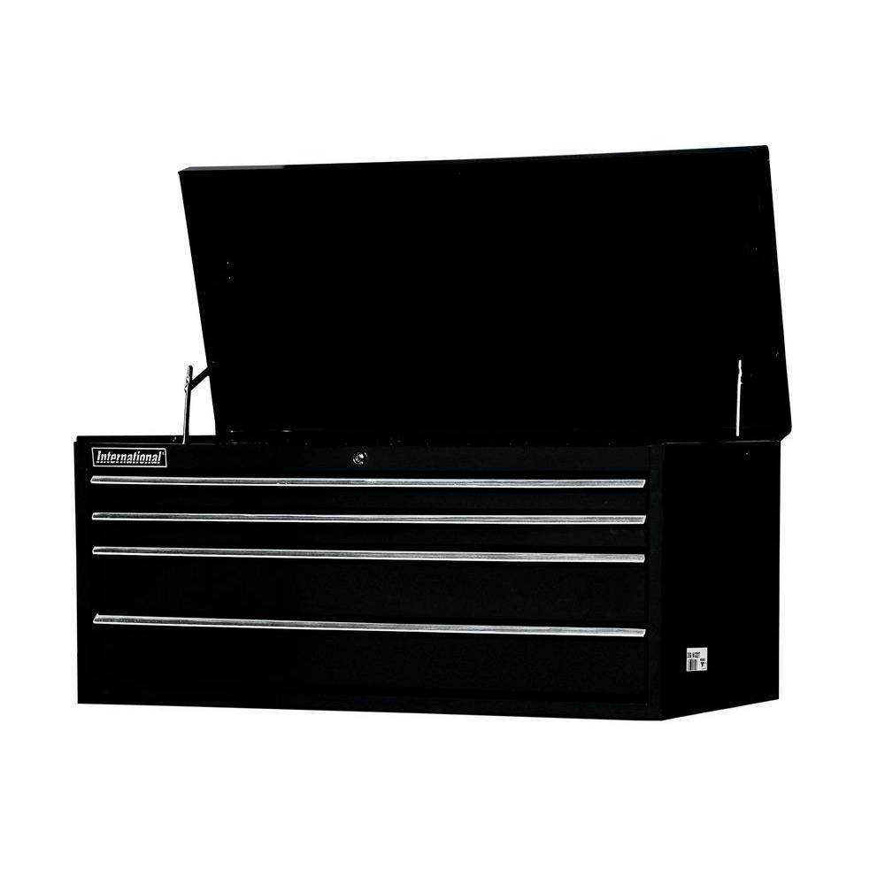 Workshop Series 42 in. 4-Drawer Top Chest, Black