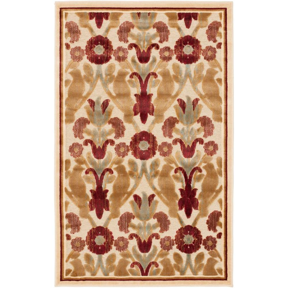 Paradise Creme 2 ft. 7 in. x 4 ft. Area Rug