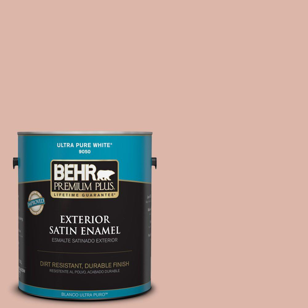 1-gal. #220E-3 Melted Ice Cream Satin Enamel Exterior Paint