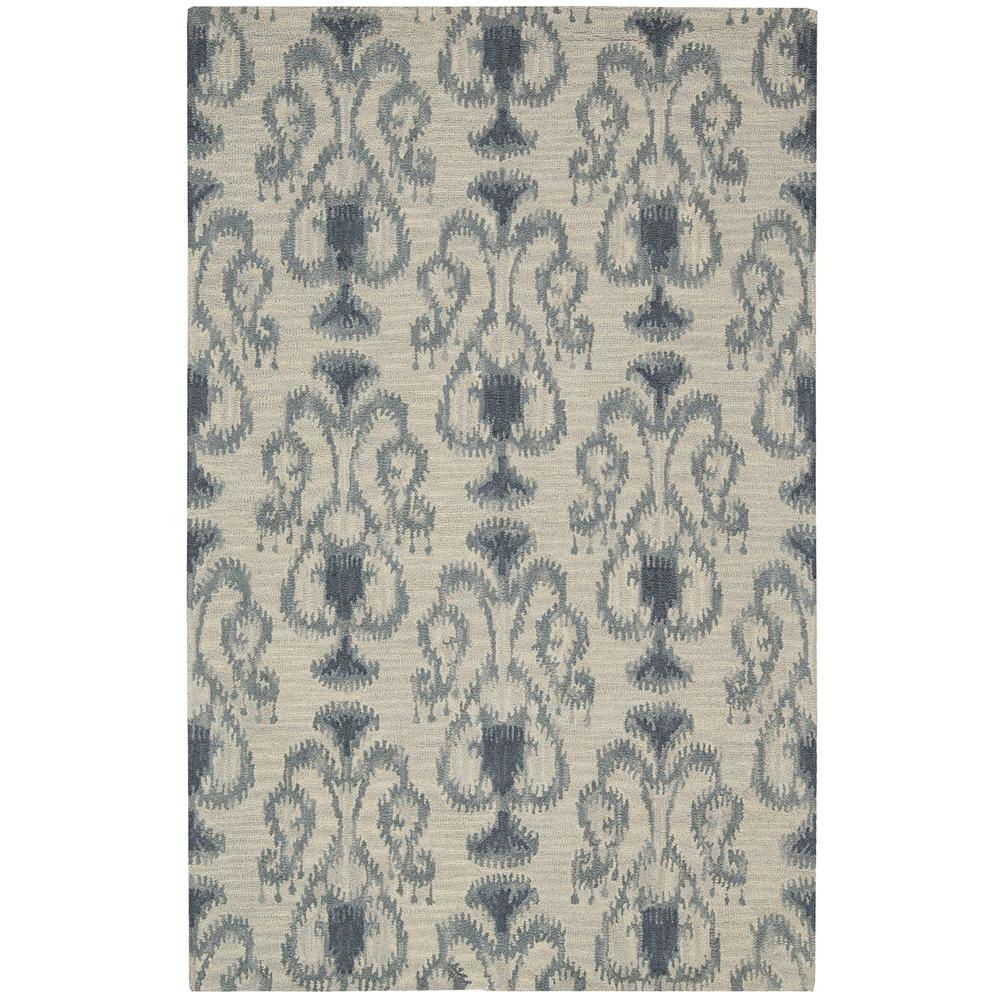 Nourison Overstock Siam Silver 3 ft. 6 in. x 5 ft. 6 in. Area Rug