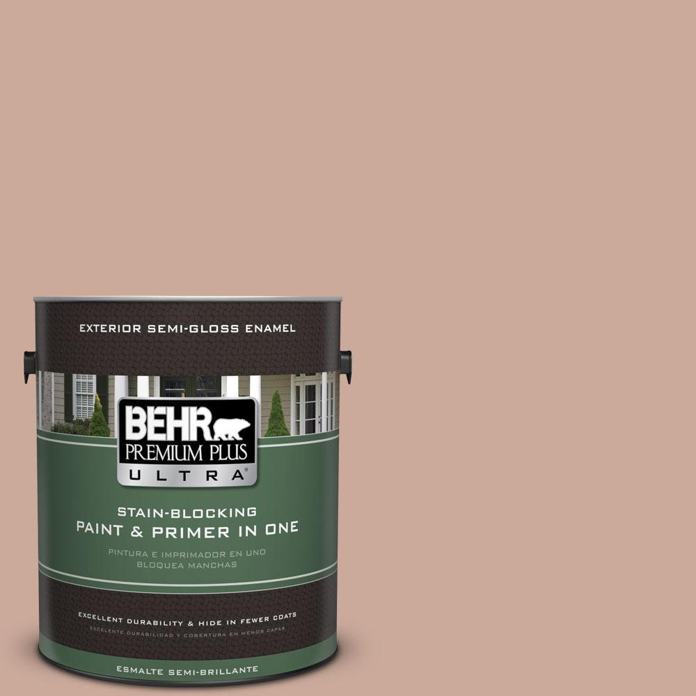 1-gal. #ICC-97 Powdered Allspice Semi-Gloss Enamel Exterior Paint
