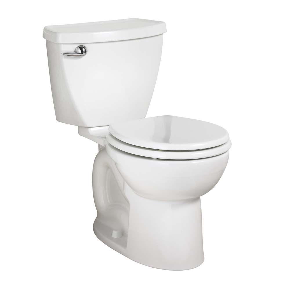 American Standard Cadet 3 Powerwash Chair Height 2-piece 1.6 GPF Round Toilet in White