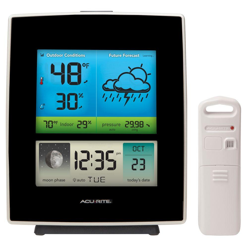 AcuRite Weather Gauges & Instruments Weather Forecaster with Color Display 02030RM