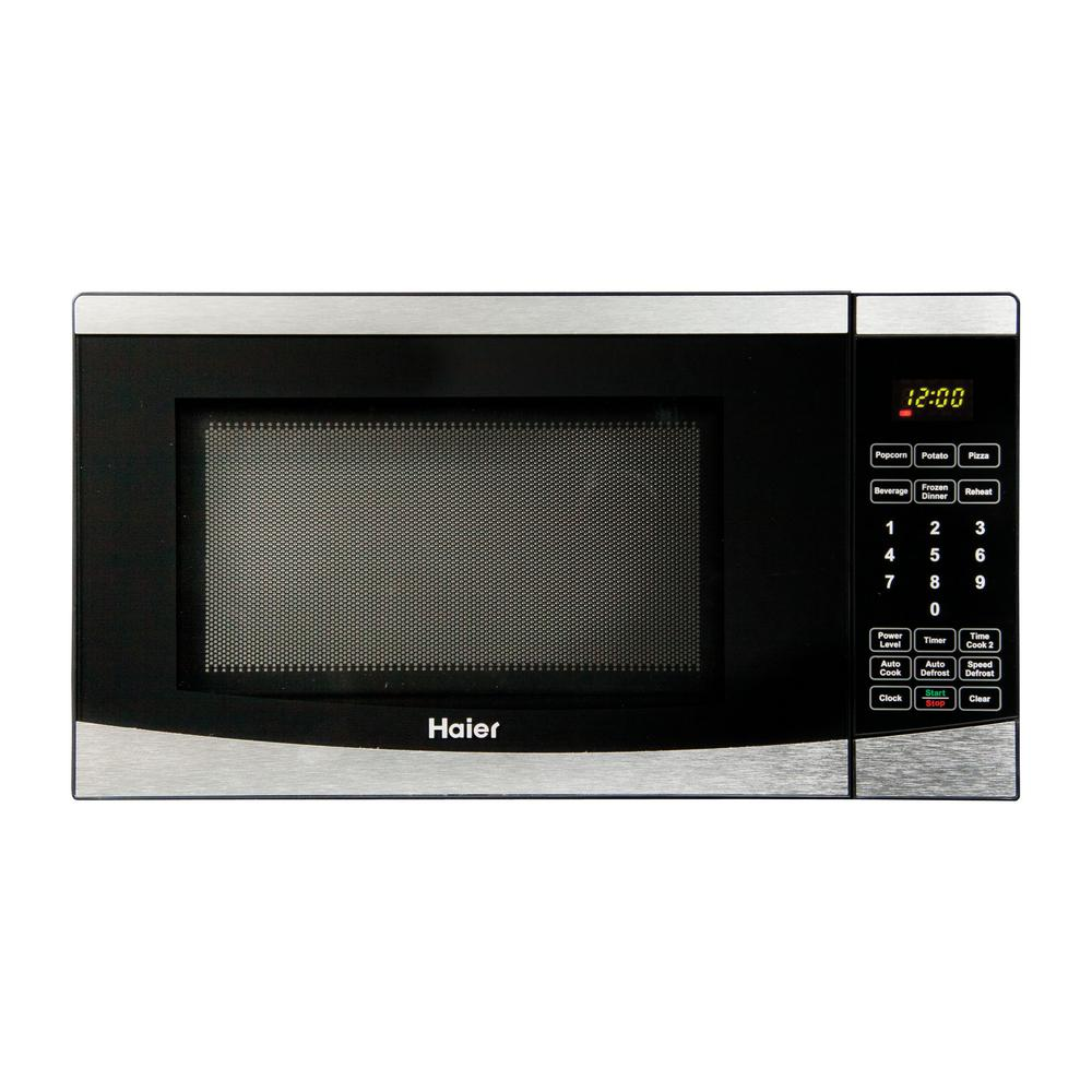 Haier 0.7 cu. ft. Countertop Microwave in Stainless Steel-HMC725SESS - The