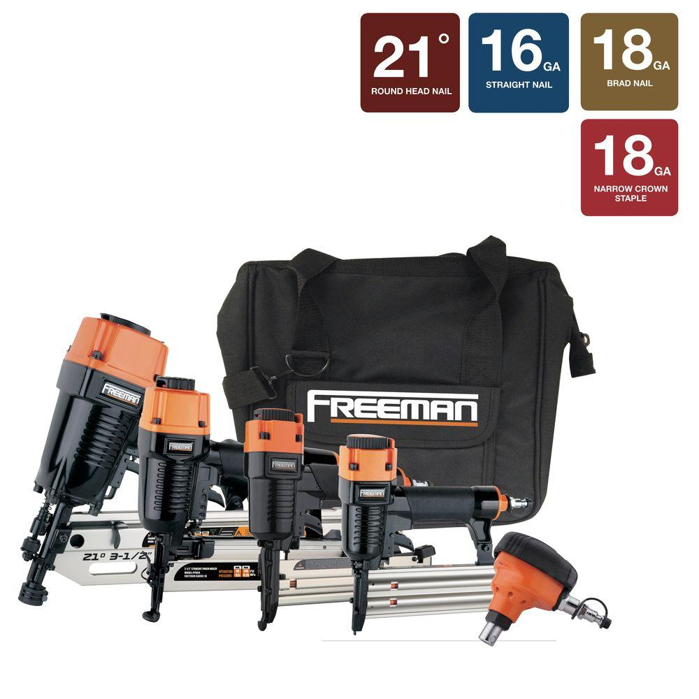 Freeman Pneumatic and Framing Kit with Bag (5-Piece)-CP5FRNCB - The Home