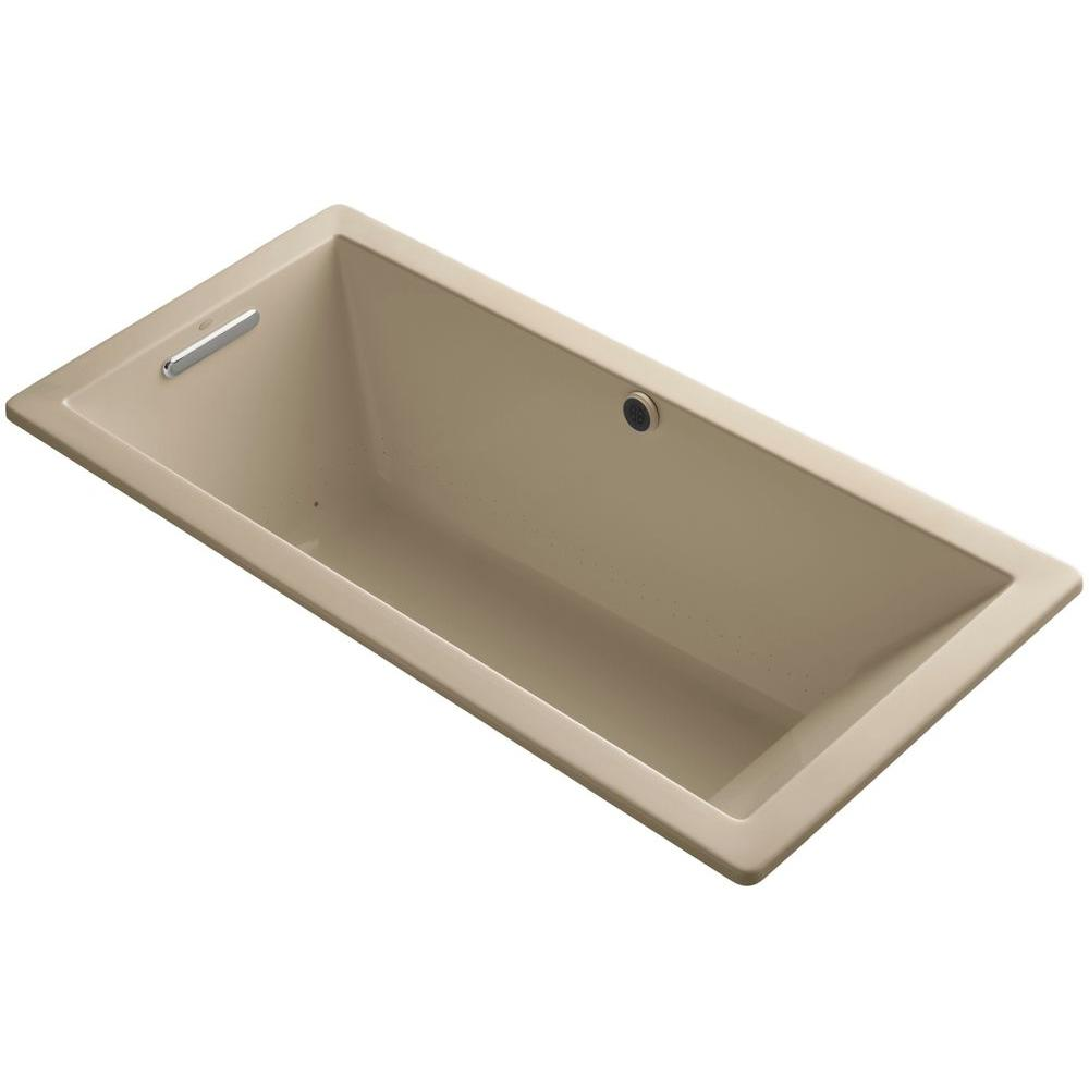 KOHLER Underscore 5.5 ft. Air Bath Tub in Mexican Sand