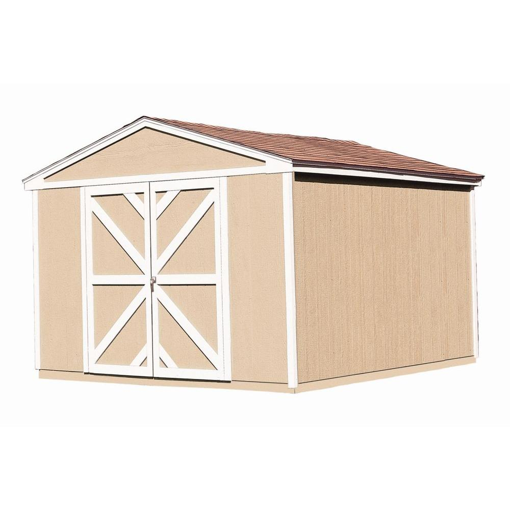 Handy Home Products Somerset 10 ft. x 12 ft. Wood Storage