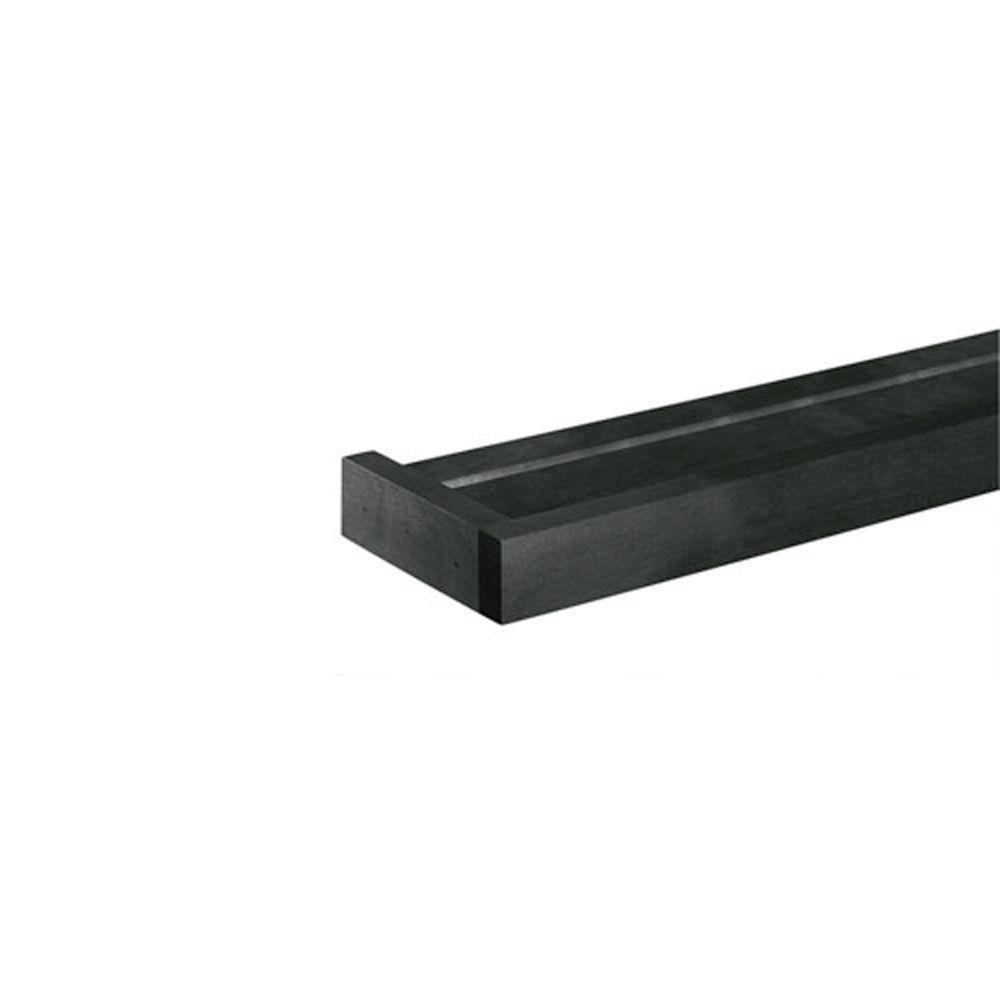 Home Decorators Collection 24 in. x 5.25 in. Black Euro Floating Wall Shelf