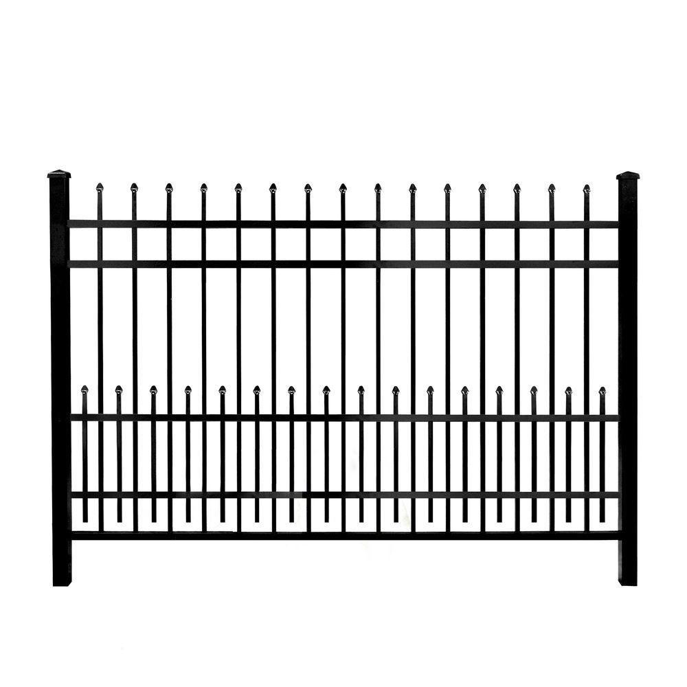 Mainstreet Aluminum Fence 3/4 in. x 2 ft. x 6 ft. Black Aluminum Fence Puppy Guard Add-On Panel