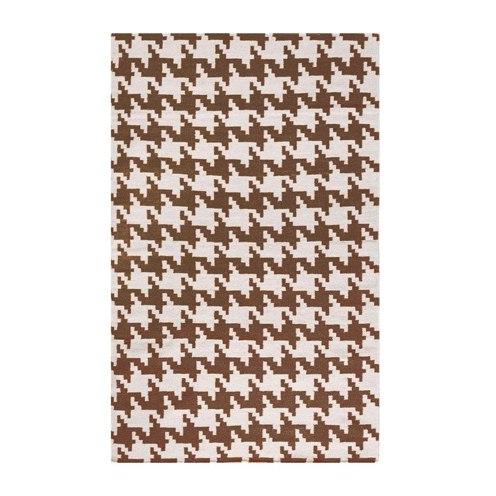 Home Decorators Collection Houndstooth Cream/Brown 3 ft. x 5 ft. Area Rug