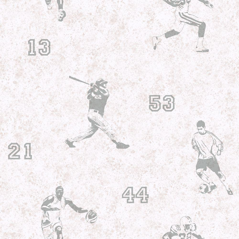 York Wallcoverings 56 Sq. Ft. Sports Players Wallpaper-DISCONTINUED