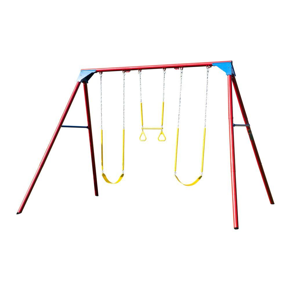 Lifetime 10 ft. A-Frame Swing Set Primary Colors