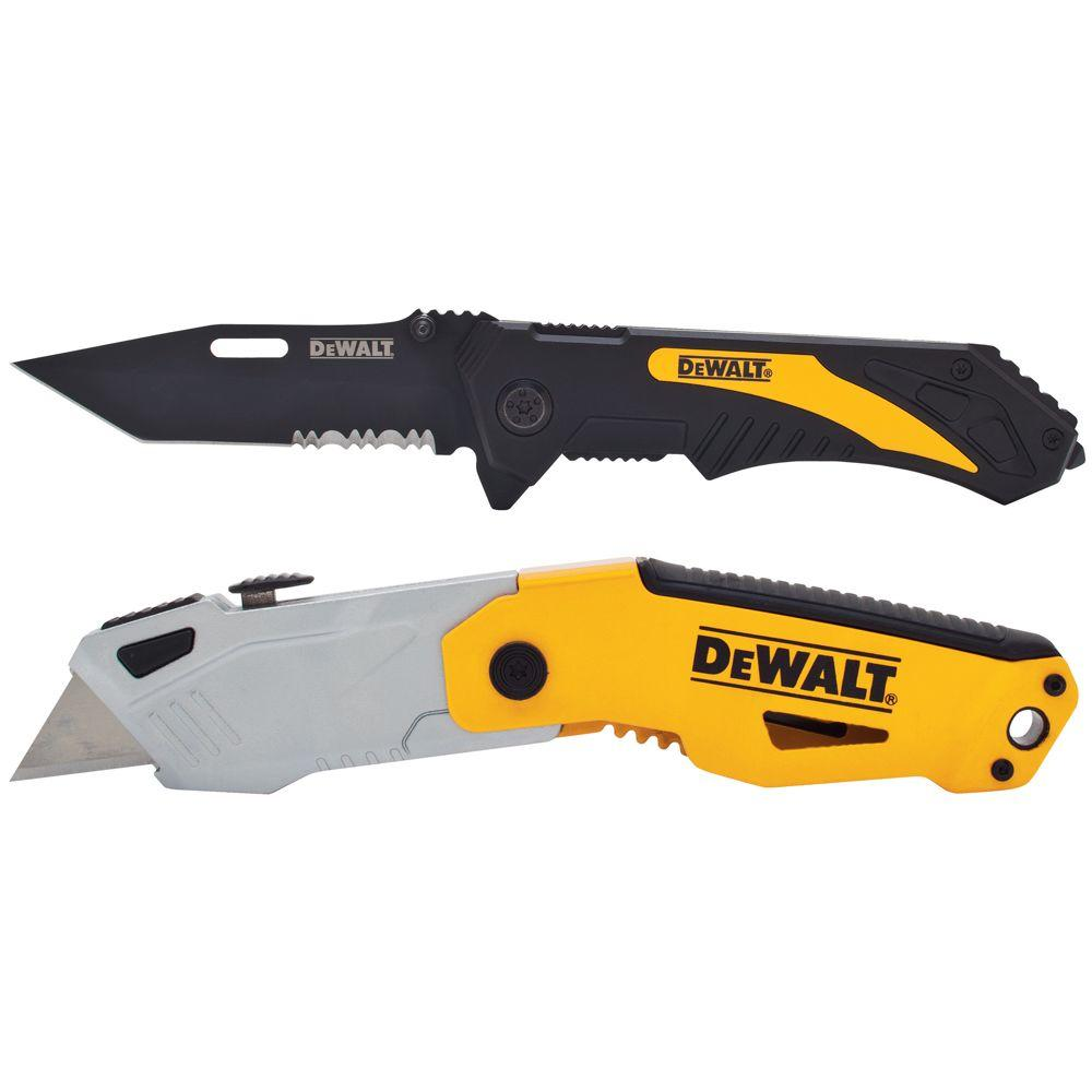 DEWALT Autoload Utility Knife and Pocket Knife Combo (2-Piece)-DWHT74761GC - The