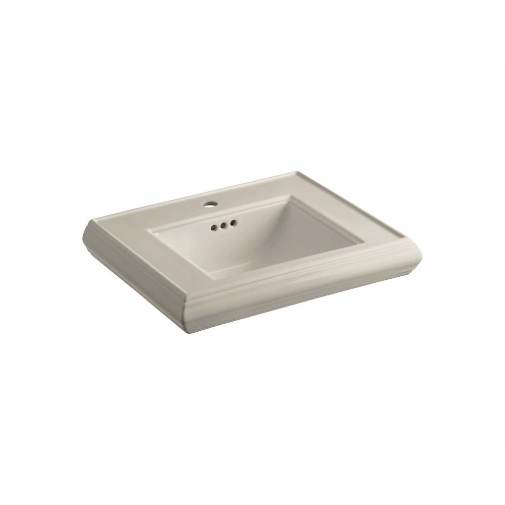 Memoirs Kohler Sink : KOHLER Memoirs 5-1/4 in. Ceramic Pedestal Sink Basin in Sandbar with ...