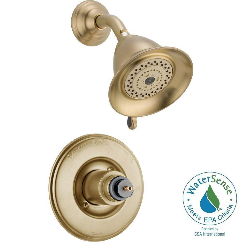 Delta Victorian 1-Handle 3-Spray Shower Faucet Trim Kit in Champagne Bronze (Valve and Handles Not Included)