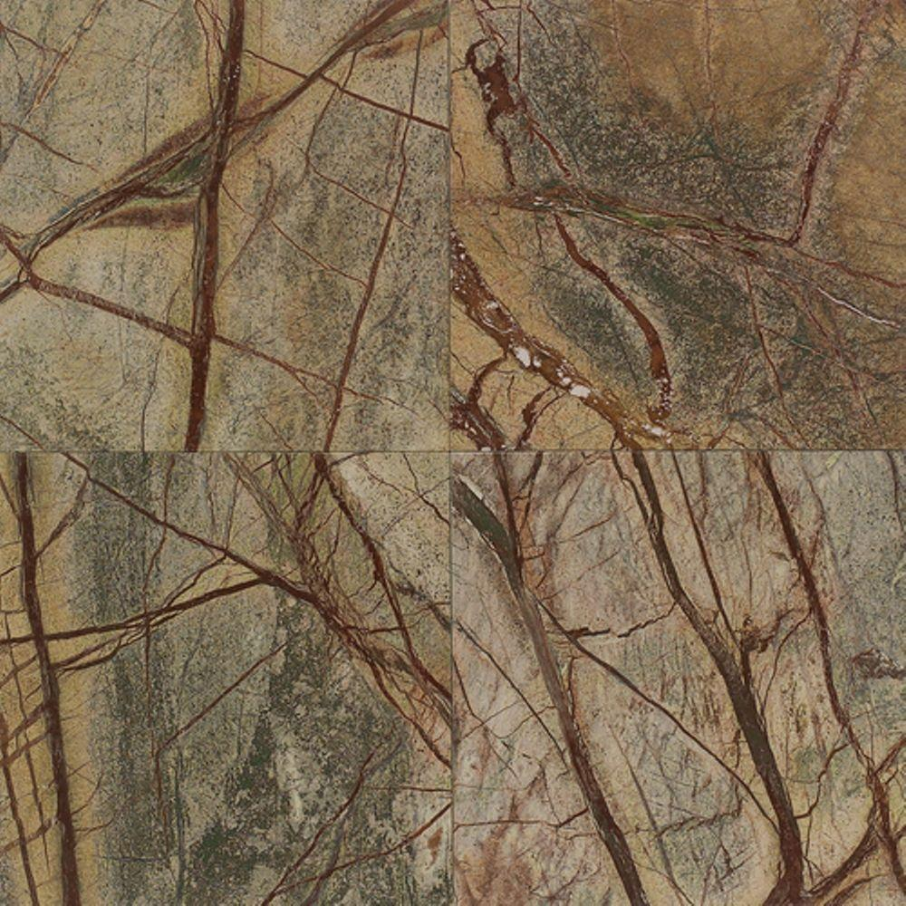 Green Marble Tiles : Daltile natural stone collection rainforest green in