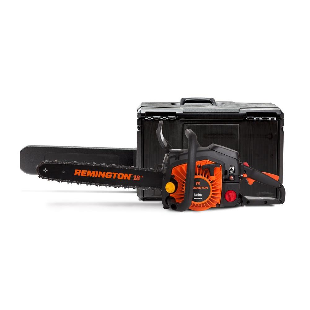 Remington RM5118R 18 in. 51cc 2-Cycle Gas Chainsaw with Carry Case-Rodeo