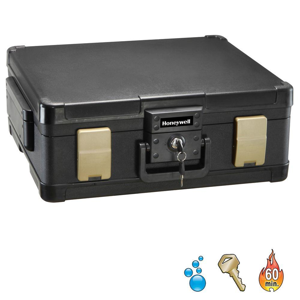 0.38 cu. ft. Molded Fire/Water Chest with Key and Double Latch