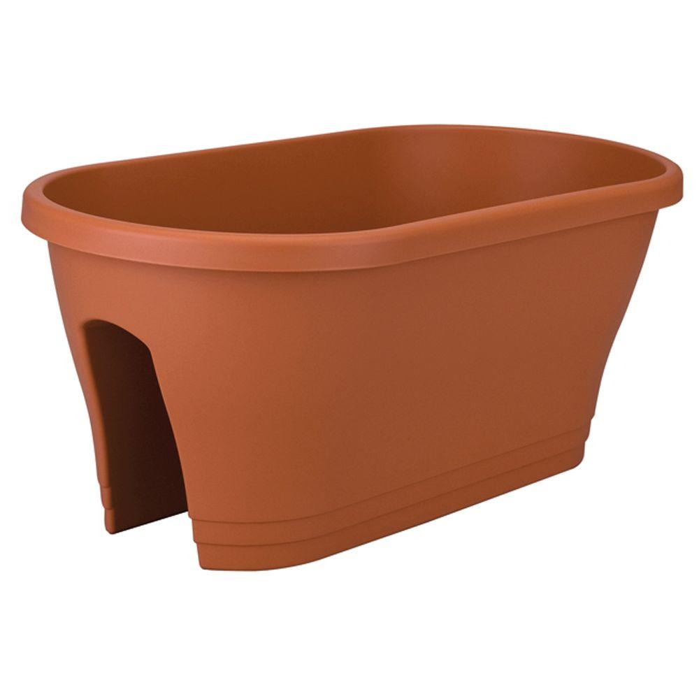 null 24 in. Oval Terra Flower Bridge Planter