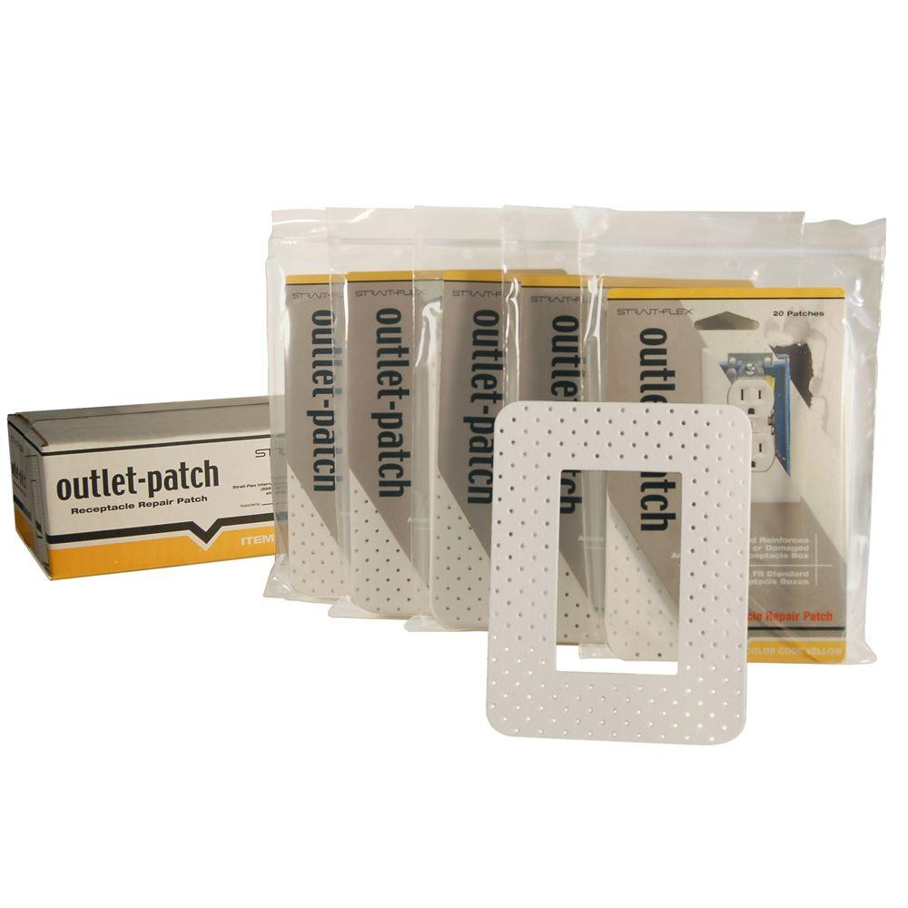 Strait-Flex 4-3/4 in. x 6-1/4 in. Drywall Repair Outlet Patch