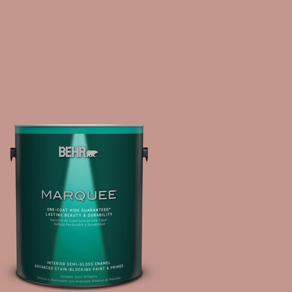 1 gal. #MQ1-18 Pressed Blossoms One-Coat Hide Semi-Gloss Enamel Interior Paint