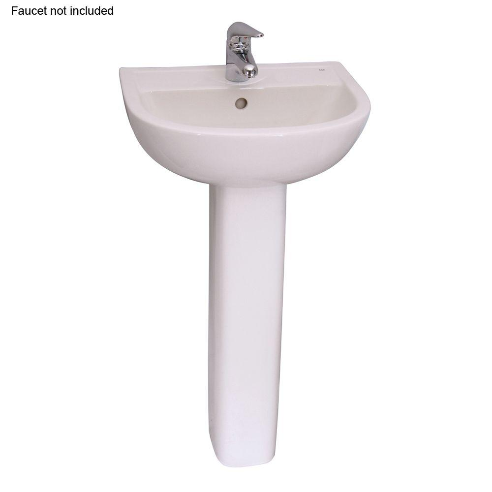 Compact 450 18 in. Pedestal Combo Bathroom Sink with 1 Faucet