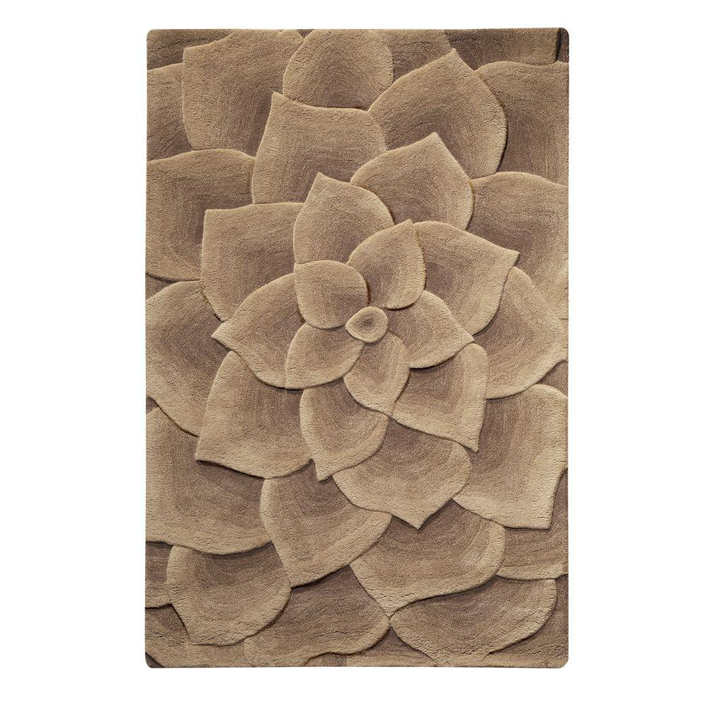 Home Decorators Collection Corolla Taupe 3 ft. 6 in. x 5 ft. 6 in. Area Rug