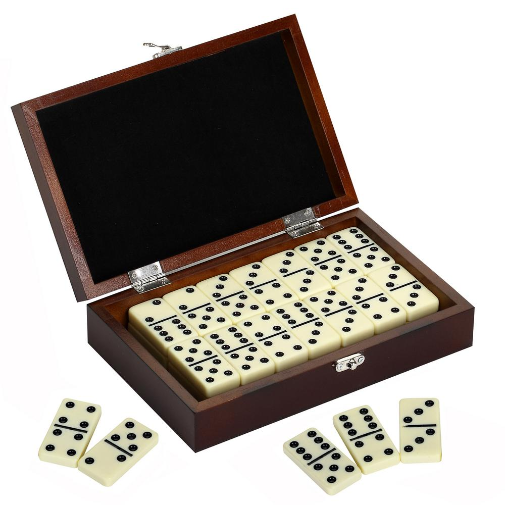 Premium Domino Set with Wooden Carry Case