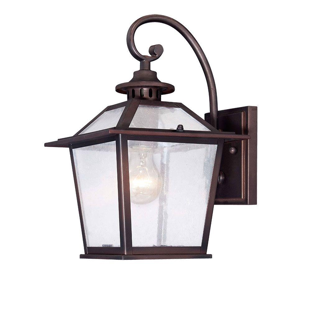 Salem Collection 1-Light Architectural Bronze Outdoor Wall-Mount Light