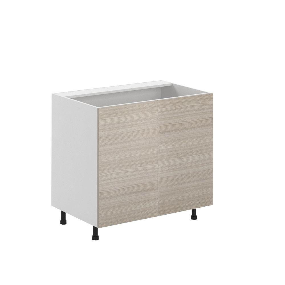 Fabritec 36x34.5x24.5 in. Geneva Full Height Sink Base Cabinet in White