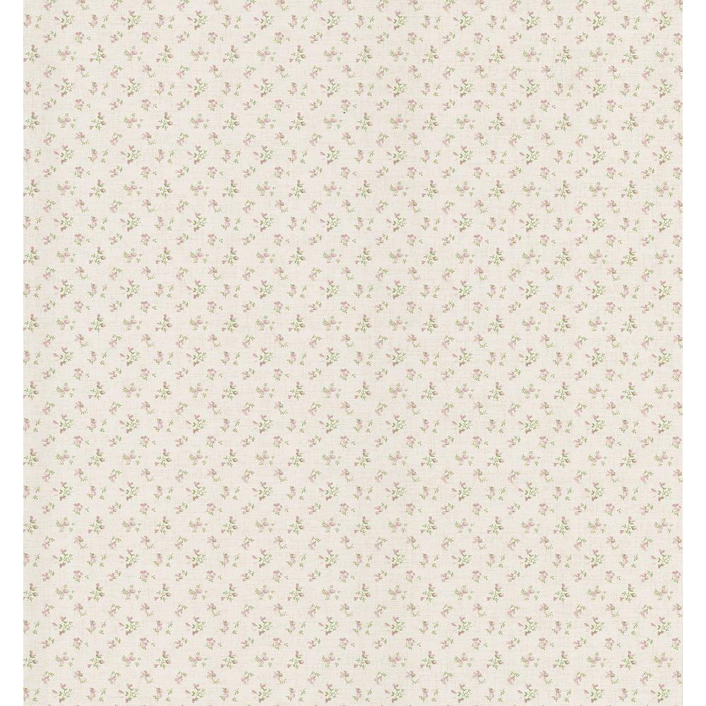 Brewster 8 in. W x 10 in. H Small Rose Linen Wallpaper Sample