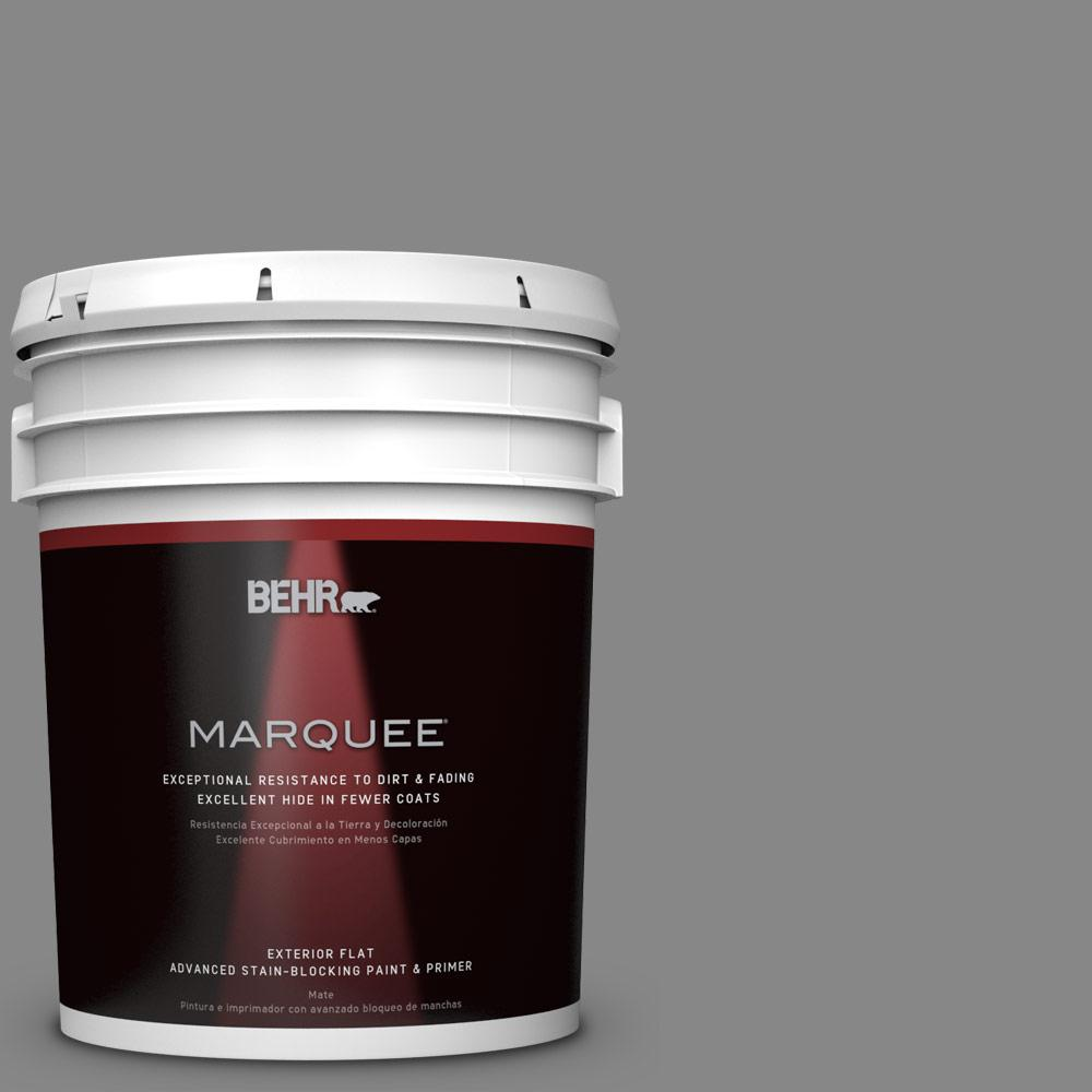 BEHR MARQUEE 5 gal. #PPU26-04 Falcon Gray Matte Exterior Paint-445405 -