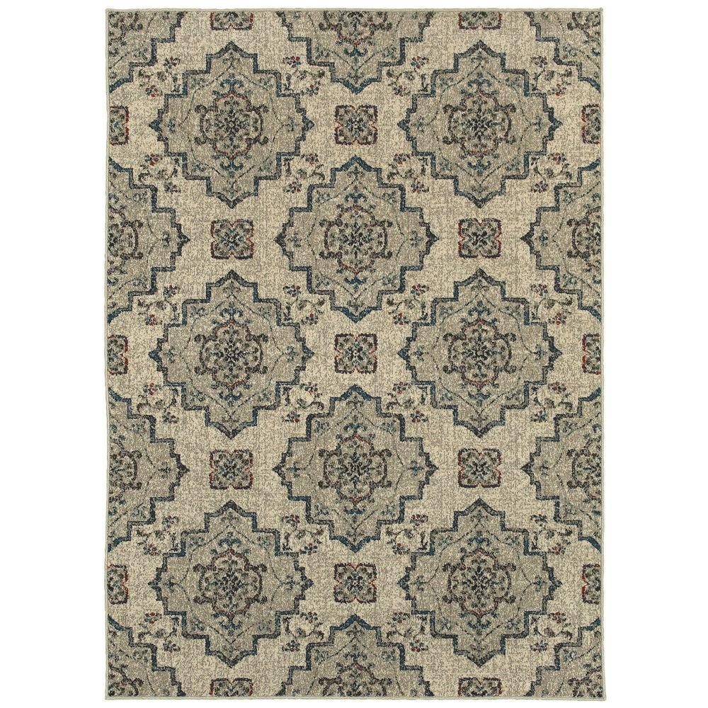 Home Decorators Collection Atlantis Medallion Beige 1 ft. 10 in. x