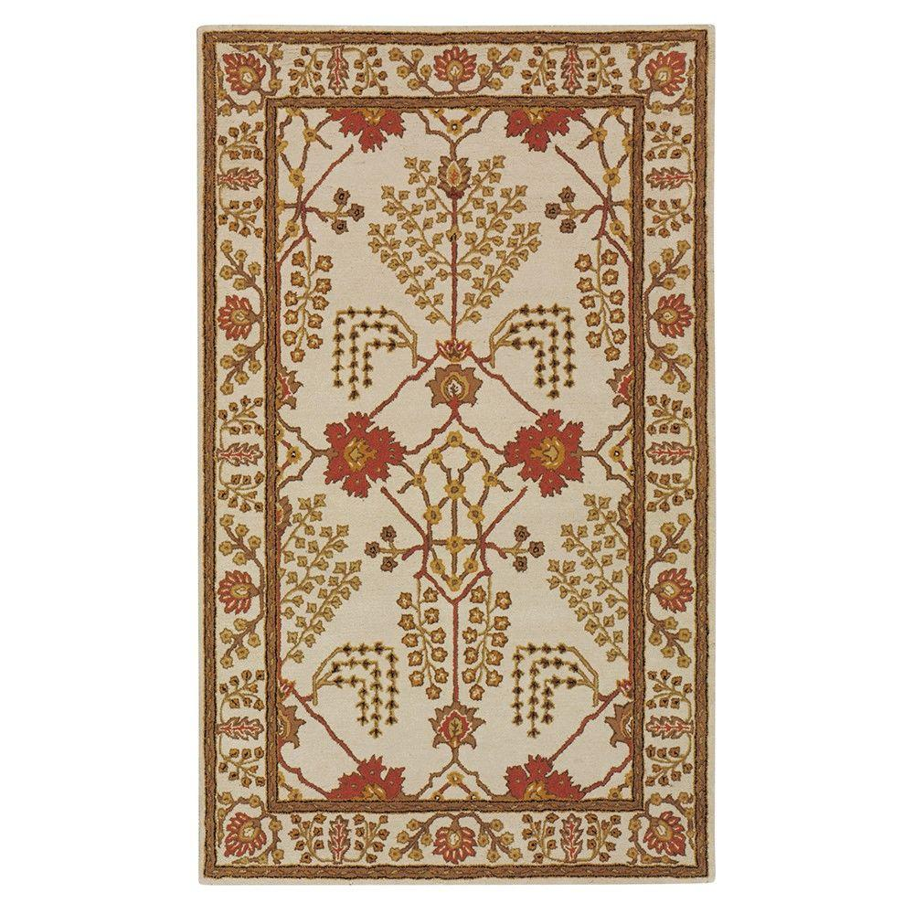 Home Decorators Collection Leeds Antique White 9 ft. 9 in. x 13 ft. 9 in. Area Rug